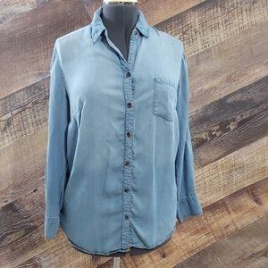 Ava & Viv Blue shirt size X